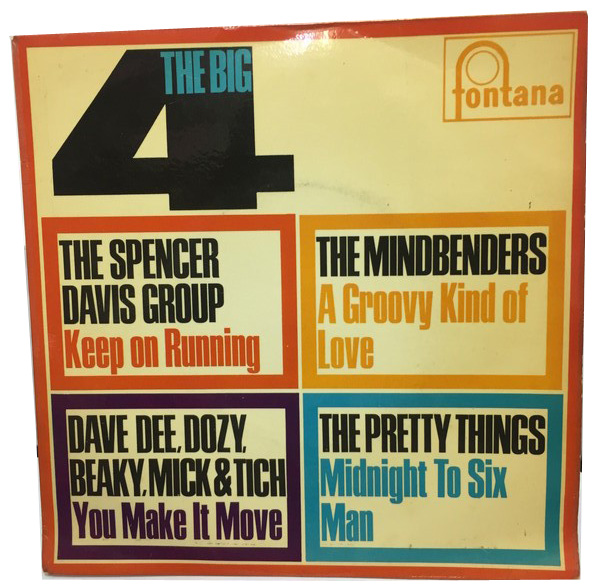 THE BIG 4(THE SPENCER DAVIS GROUP、MINDBENDERS、DAVE DEE、PRETTY THINGS) EPレコード
