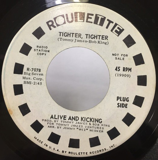 ALIVE AND KICKING/TIGHTER TIGHTER シングルレコード