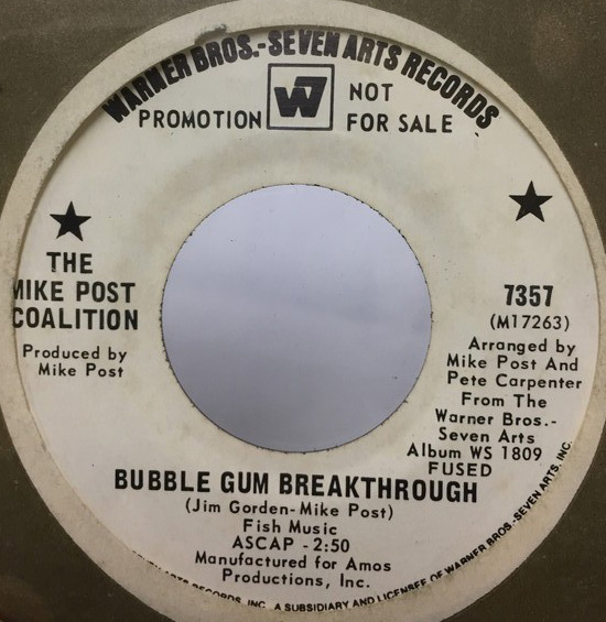 THE MIKE POST COALITION/BUBBLE GUM BREAKTHROUGH シングルレコード