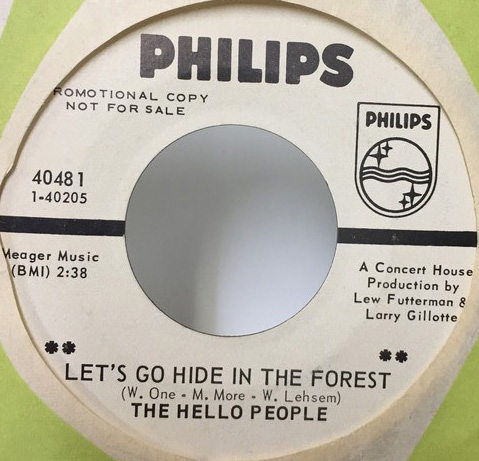 THE HELLO PEOPLE/LETS GO HIDE IN THE FOREST シングルレコード