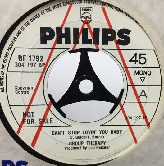 GROUP THERPY/CANT STOP LOVIN YOU BABY シングルレコード
