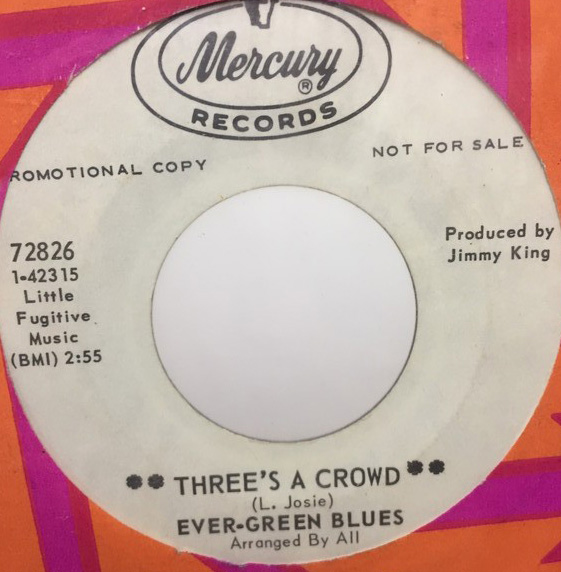 EVER GREEN BLUES/THREES A CROWD シングルレコード
