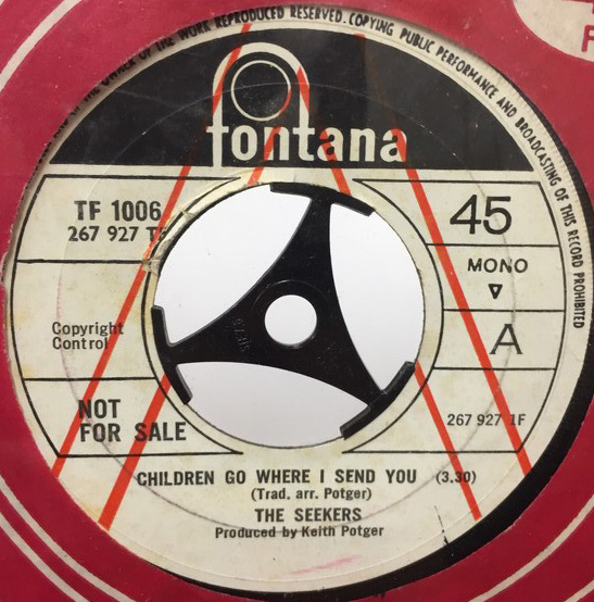 THE SEEKERS/CHILDREN GO WHERE I SEND YOU シングルレコード