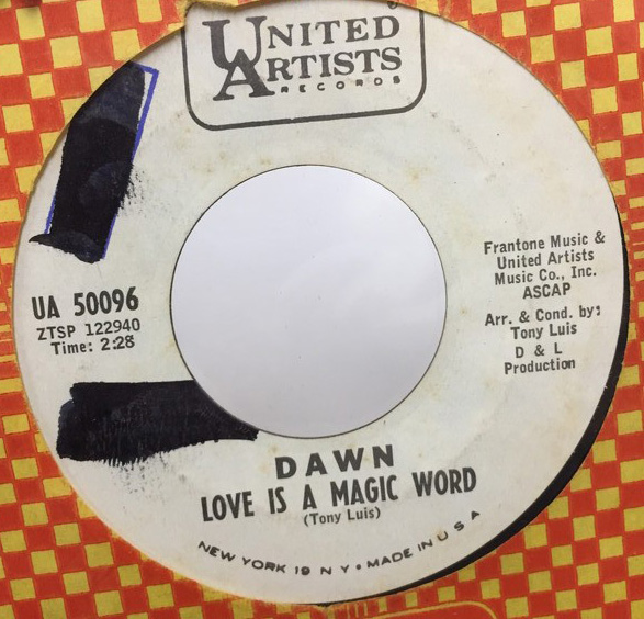 DAWN/LOVE IS A MAGIC WORD シングルレコード