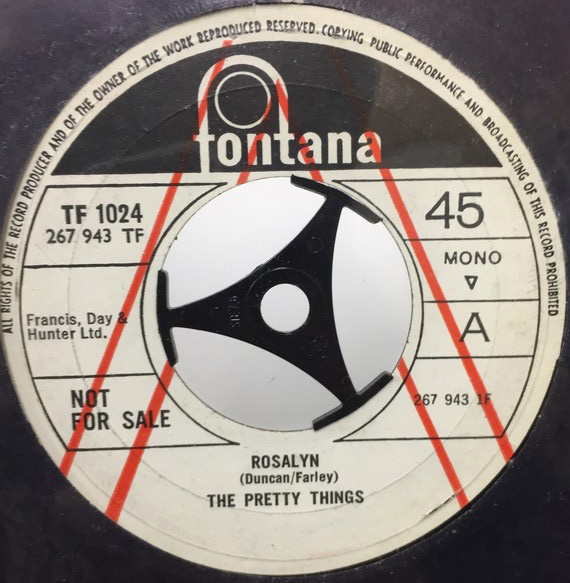 THE PRETTY THINGS/ROSALYN シングルレコード