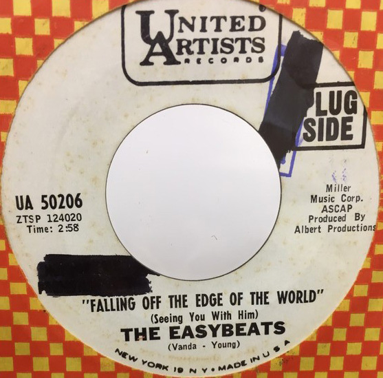 THE EASYBEATS/FALLING OFF THE EDGE OF THE WORLD シングルレコード